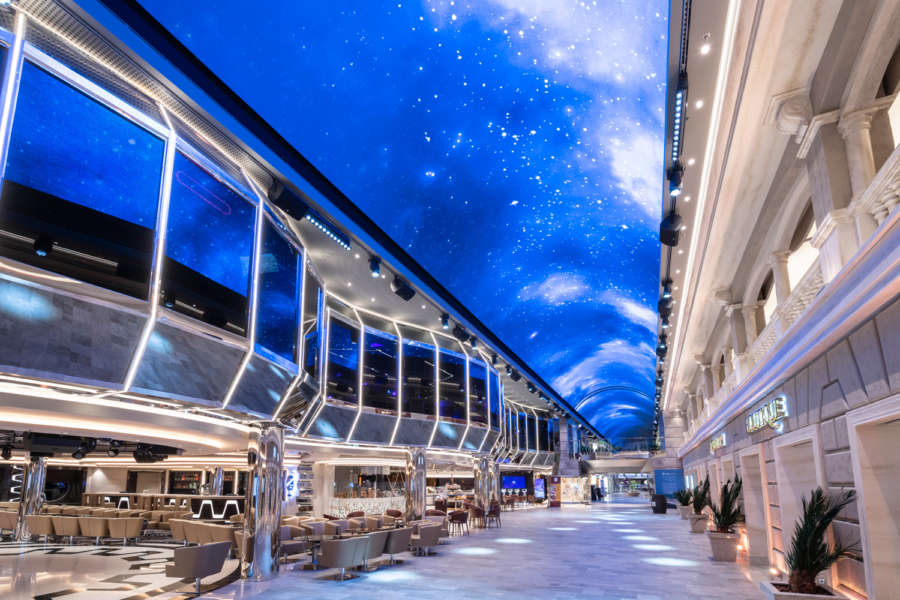 Grandiosa promenade with LED ceiling -www.cruisescapes.ie