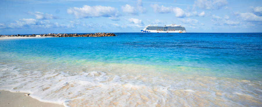 Cruise ship in the Caribbean www.cruisescapes.ie www.TravelEscapes.ie