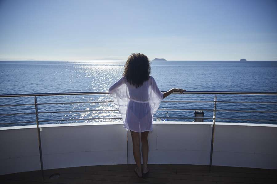 Celebrity Flora on deck