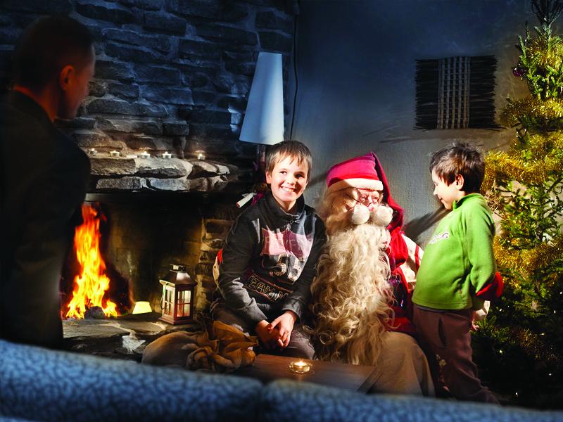 Santa with some happy children