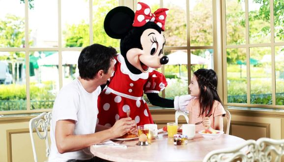 Disney Character Dining. Collect their autographs, have photographs taken with them.